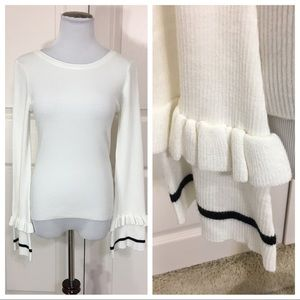 NWT! Lovers + Friends ribbed sweater flare cuffs